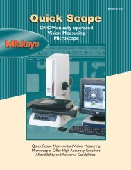 Mitutoyo Quick Scope - Measuring Solutions