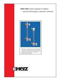 HERZ 2000- sistem spajanja na radijator -precizna tehnologija za ...