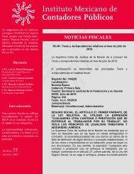 Noticias Fiscales 75 - Instituto Mexicano de Contadores Públicos