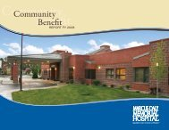 2008 Community Benefit Report - Marcus Daly Memorial Hospital.