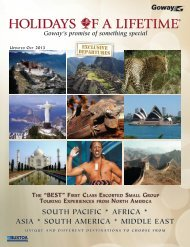 SOUTH PACIFIC * AFRICA * ASIA * SOUTH AMERICA - Goway Travel