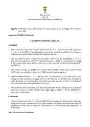 Determina - Comune di Lecce