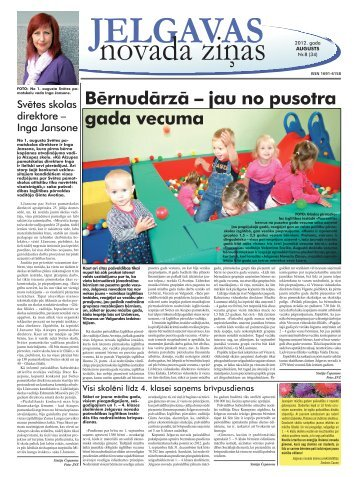 2012. gada augusts Nr 8. - Jelgavas rajona padome