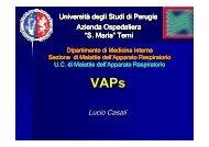 Ventilator-associated pneumonia - Facoltà di Medicina e Chirurgia ...