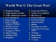 World War I 1914-1917