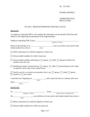 Medical Leave Request Form