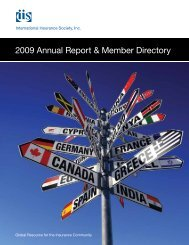 2009 Annual Report & Member Directory - International Insurance ...