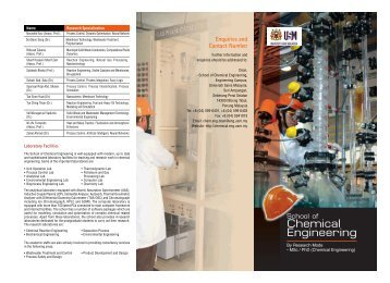 Research Mode - School of Chemical Engineering, USM