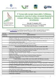 I° Forum sulle energie rinnovabili e l'efficienza ... - Corrente - Gse