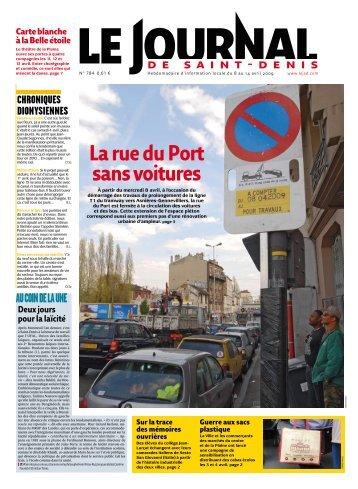 La rue du Port sans voitures - Franciade