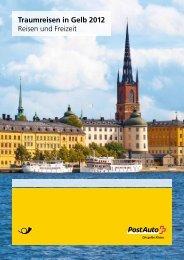 Traumreisen in Gelb 2012, Reisen und Freizeit - Postauto