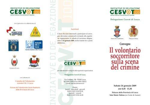 Il volontario soccorritore sulla scena del crimine - Cesvot