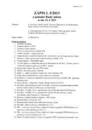 ZÁPIS č. 5/2013 - Město Roztoky