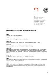Lebensdaten Friedrich Wilhelm Kraemers - M:AI