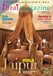 Fhrai Mag May @013 - Federation of Hotel and Restaurant ...