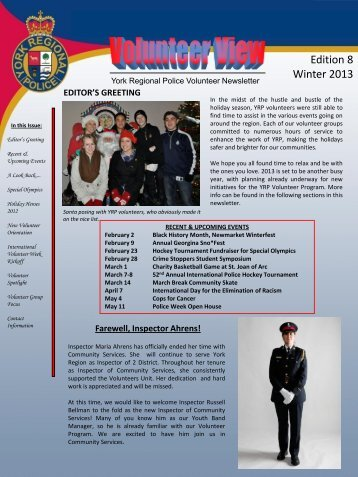 Edition 8 Winter 2013 - York Regional Police