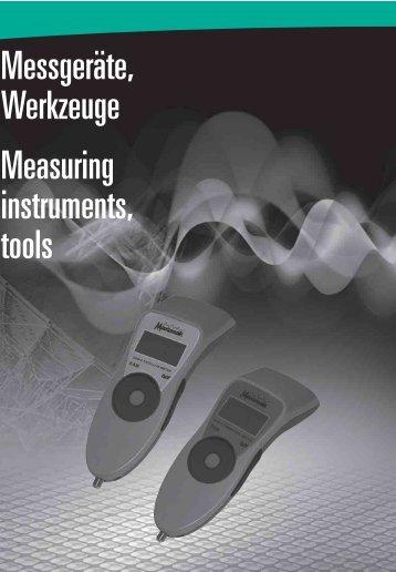 Messgeräte, Werkzeuge Measuring instruments, tools - Tekno Group