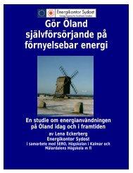 Gör Öland självförsörjande på förnyelsebar energi - Energikontor ...