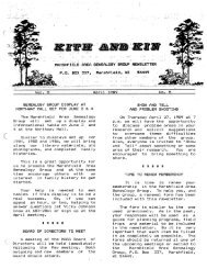 April 1989 - Marshfield Area Genealogy Group