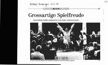 Grossartige' Spielfreude - Tanzpalast Aarau