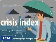 ICM Global Crisis Index August 2009 - ICM Research