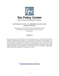 HOW HARD IS IT TO CUT TAX PREFERENCES ... - Tax Policy Center