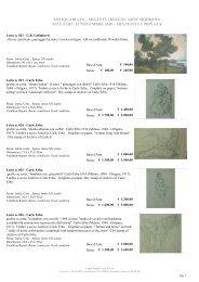 antiquariato , argenti, disegni, arte moderna aste 6 del ... - CaputMundi