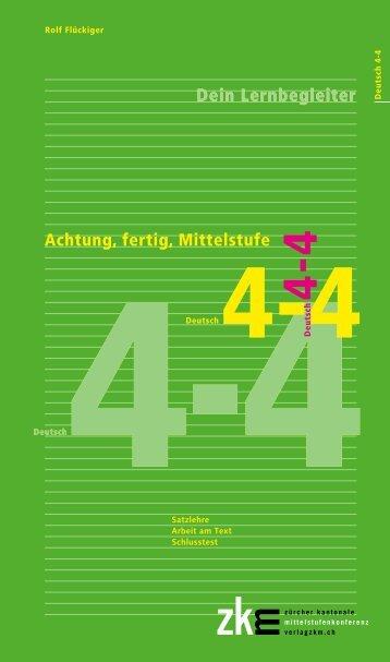 Achtung, fertig, Mittelstufe, Deutsch 4-4