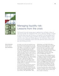 Managing liquidity risk: Lessons from the crisis - McKinsey & Company