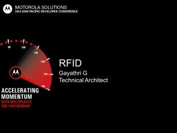 RFID IS - Motorola Solutions LaunchPad Developer Community