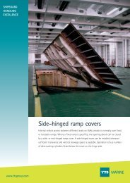 Side-hinged ramp covers  MARINE - TTS Group ASA