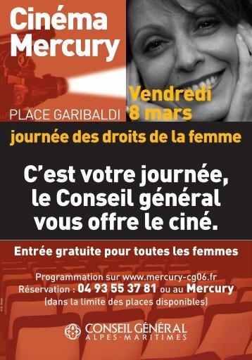 Journée des droits de la femme au cinéma Mercury - Conseil général