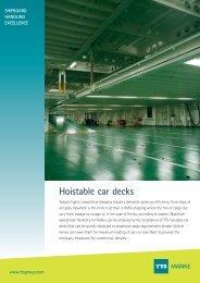 Hoistable car decks MARINE - TTS Group ASA