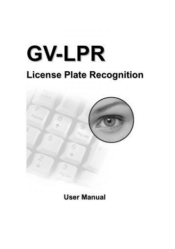 GV-LPR Software Manual - CCTV Cameras