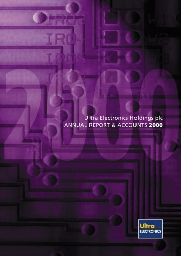 Annual Report & Accounts 2000 (PDF) - Hemscott IR