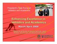 Enhancing Excellence in *Athletics and Academics - University of ...