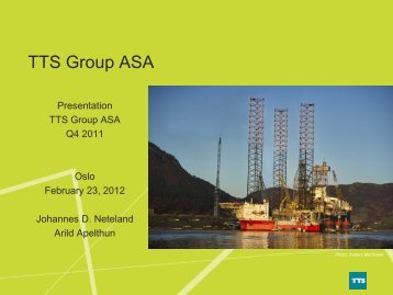 Turnover EBITDA - TTS Group ASA