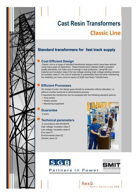 Cast Resin Transformers Classic Line - SGB-SMIT