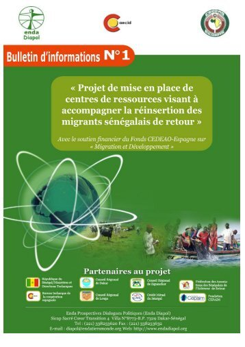 Télécharger le Bulletin N°1 du projet CARIMA - Enda-Diapol