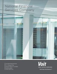 National Financial Services Company - Voit Real Estate Services