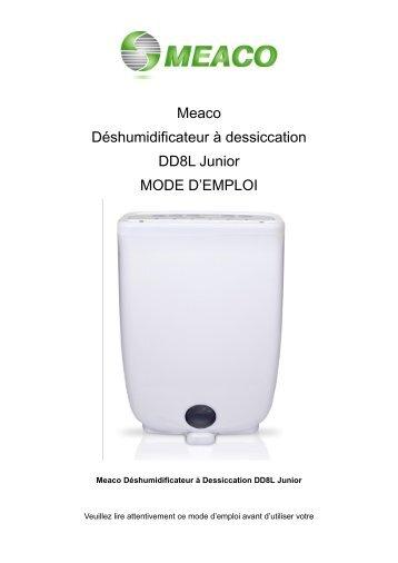 Meaco Déshumidificateur à dessiccation DD8L Junior MODE D ...