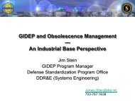 GIDEP and Obsolescence Management --- An Industrial Base ...