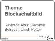 Thema: Blockschaltbild - Projektlabor