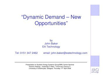 """""""Dynamic Demand – New Opportunities"""" - Scottish Energy Systems ..."""