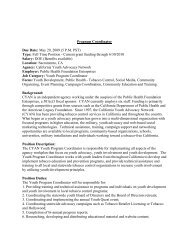 Program Coordinator Due Date: May 29, 2009 (5 P.M. PST) Type ...