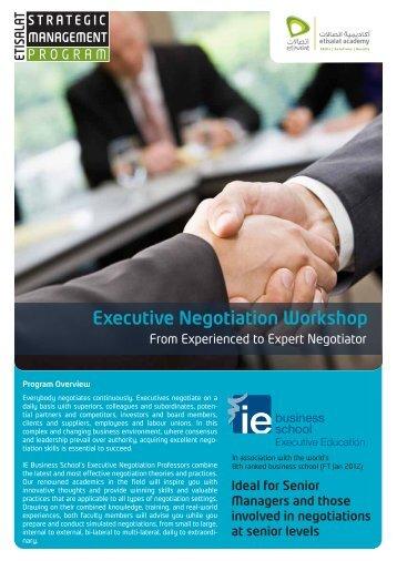 Executive Negotiation v1.3 - Etisalat Academy