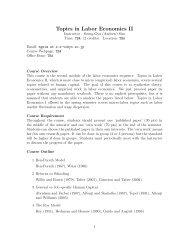 Topics in Labor Economics II - Seung Gyu (Andrew) Sim