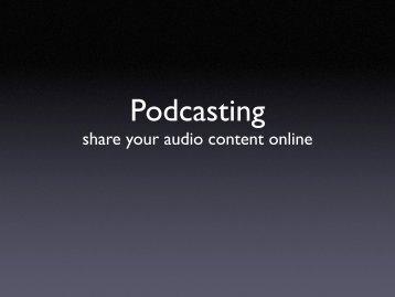 Podcasting - eTwinning