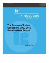 BIE 2009-2010 Baseline Data Report Kingsbury-NWEA - Bureau of ...