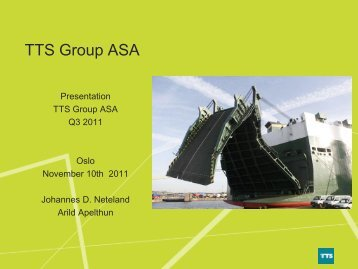 Net working capital development - TTS Group ASA
